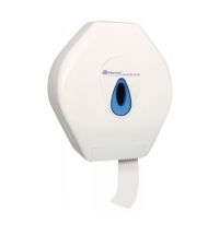 фото: Диспенсер для туалетной бумаги в рулонах Merida Top Mega BTN001, белый/синий