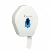 Диспенсер для туалетной бумаги в рулонах Merida Top Mini BTN201, белый/синий