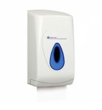 Диспенсер для туалетной бумаги листовой Merida Top BTN401, белый/синий