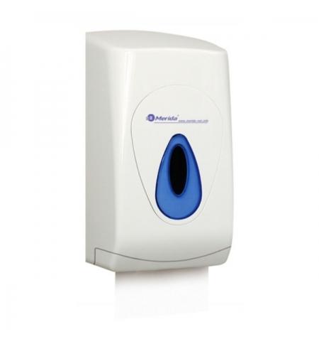 фото: Диспенсер для туалетной бумаги листовой Merida Top BTN401, белый/синий