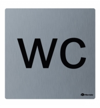фото: Дверная табличка Merida Premium WC, 100х100мм, матовая нержавеющая сталь, GSM012