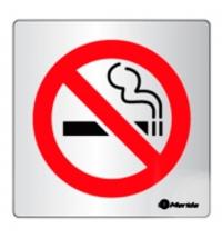 фото: Дверная табличка Merida Standart Не курить, 100х100мм, алюминий/скотч, ИТ006
