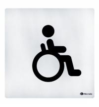 фото: Дверная табличка Merida Standart Туалет для инвалидов, 100х100мм, алюминий/скотч, ИТ009