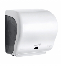 фото: Диспенсер для полотенец в рулонах Merida Automatic Lux Cut Maxi CJB502, белый