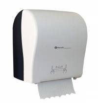 фото: Диспенсер для полотенец в рулонах Merida Solid Cut Maxi CJB303, черный/белый
