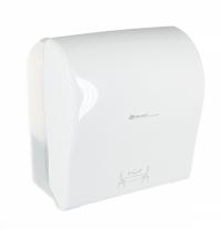 фото: Диспенсер для полотенец в рулонах Merida Solid Cut Maxi CJB304, глянцевый белый
