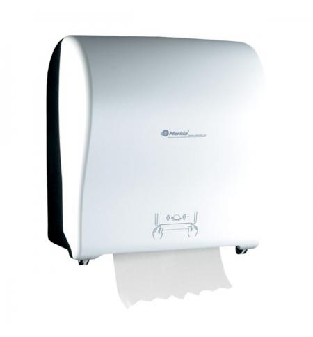 фото: Диспенсер для полотенец в рулонах Merida Solid Cut Maxi CJB305, глянцевый черно-белый