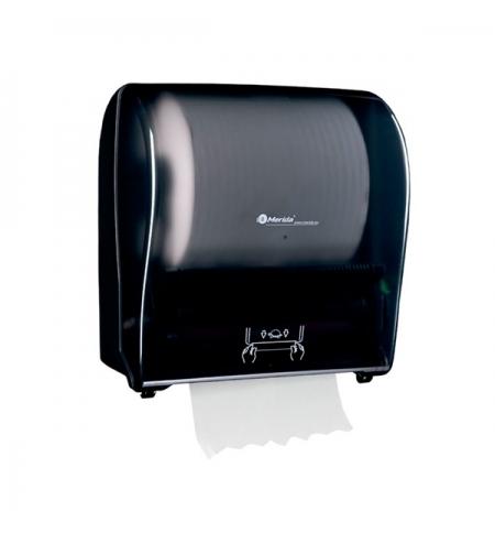 фото: Диспенсер для полотенец в рулонах Merida Solid Cut Maxi CJC303, глянцевый черный