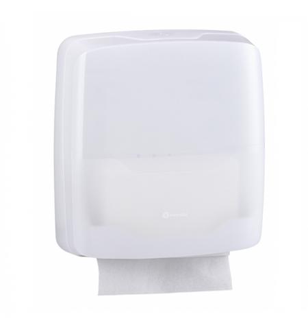 фото: Диспенсер для полотенец листовых Merida Harmony AHB101, белый, V-укладка