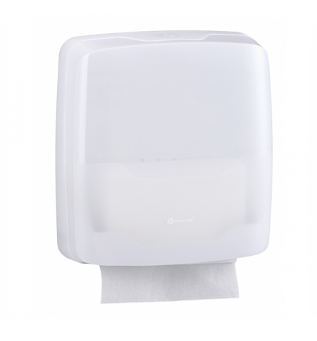 фото: Диспенсер для полотенец листовых Merida Harmony AHB102, белый, Z-укладка