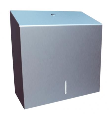 фото: Диспенсер для полотенец листовых Merida Stella Maxi ASP101 T, для отдельных полотенец, металлический