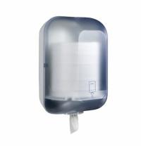 фото: Диспенсер для полотенец с центральной вытяжкой Merida Maxi голубой-прозрачный, CJB703