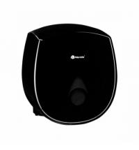 Диспенсер для туалетной бумаги в рулонах Merida Como Black Mini черный, серая капля, BCC201