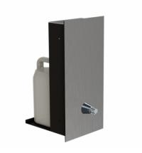 фото: Дозатор для мыла Merida Dragon Vandalproof DWM160, монтируемый на стену, матовый металлик, 5л
