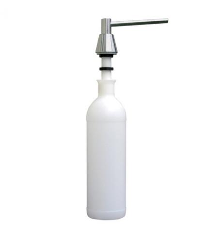 фото: Дозатор для мыла Merida DWM101, монтируемый на столешнице, конус, матовый металлик, 1л
