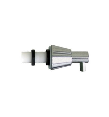 фото: Дозатор для мыла Merida DWM102, монтируемый на стену, конус, матовый металлик, 1л