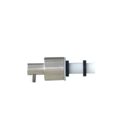 фото: Дозатор для мыла Merida DWM104, монтируемый на стену, цилиндр, матовый металлик, 1л