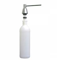 фото: Дозатор для мыла Merida DWP101, монтируемый на столешнице, конус, полированный металлик, 1л