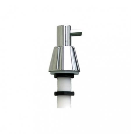 фото: Дозатор для мыла Merida DWP102, монтируемый на стену, конус, полированный металлик, 1л