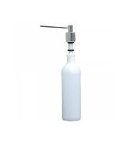 фото: Дозатор для мыла Merida DWP103, монтируемый на столешнице, цилиндр, полированный металлик, 1л
