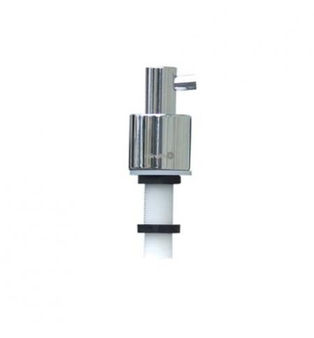 фото: Дозатор для мыла Merida DWP104, монтируемый на стену, цилиндр, полированный металлик, 1л