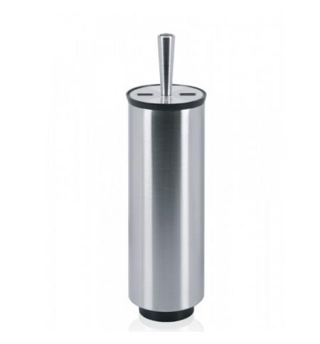 фото: Ершик для унитаза Merida Brilliant Steel металлик, с подставкой