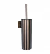 Ершик для унитаза Merida Optimum матовый металлик, настенная, с подставкой, с крышкой, GIM343