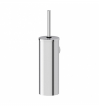 фото: Ершик для унитаза Merida Optimum полированный металлик, настенная, с подставкой, с крышкой, GIP302