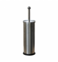 Ершик для унитаза Merida Optimum с цилиндрической подставкой, матовый металлик, GIM301