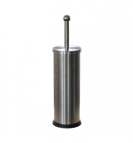 фото: Ершик для унитаза Merida Optimum с цилиндрической подставкой, матовый металлик, GIM301