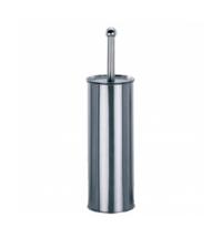 Ершик для унитаза Merida Optimum с цилиндрической подставкой, полированный металлик, GIP301