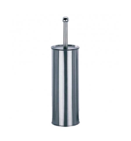 фото: Ершик для унитаза Merida Optimum с цилиндрической подставкой, полированный металлик, GIP301