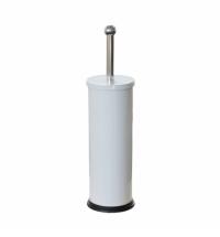 Ершик для унитаза Merida Optimum с цилиндрической подставкой, эмалированный, белый, GIB301