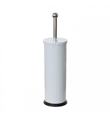 фото: Ершик для унитаза Merida Optimum с цилиндрической подставкой, эмалированный, белый, GIB301