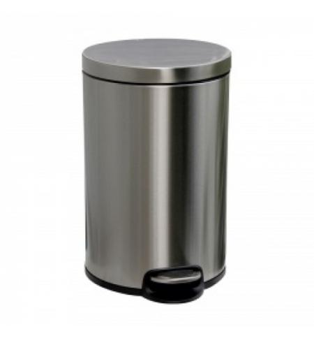 фото: Ведро для мусора с педалью Merida Silent 20л, матовый металлик, с внутренним ведром, KIM415