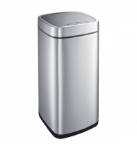 Контейнер для мусора Merida 35л, сенсорный, с крышкой, матовый металлик, KIM504