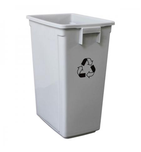 фото: Контейнер для мусора Merida 60л, серый, без крышки, KJS705