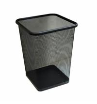 Корзина для мусора Merida 10л, черная, сетчатая, KIC102