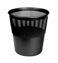 Корзина для мусора Merida 12л, черная, КЕЧ 01