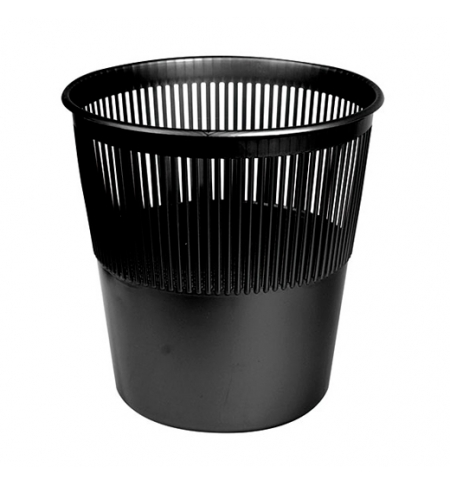 фото: Корзина для мусора Merida 12л, черная, КЕЧ 01
