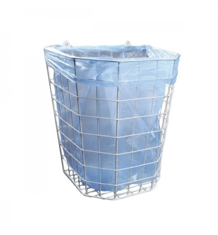фото: Корзина для мусора Merida 22л, белая, сетчатая, подвесная, B1A