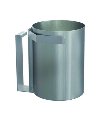 фото: Корзина для мусора Merida 30л, монтируемая под столешницу, матовый металлик, KWM101