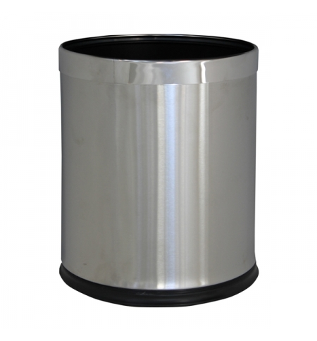 фото: Корзина для мусора Merida Optimum 10л, матовый металлик, KSM103