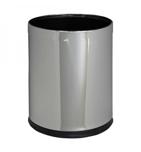 фото: Корзина для мусора Merida Optimum 10л, полированный металлик, KSP103