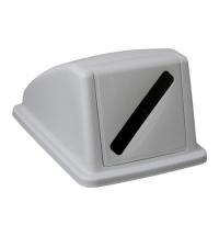 фото: Крышка для мусорного контейнера Merida 60л, с отверстием для бумаги, серая, KJS908