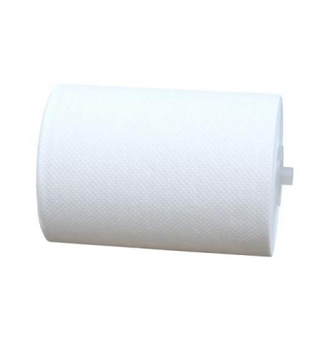 фото: Бумажные полотенца Merida Optimum Automatic Mini БПАО401, в рулоне, белые, 100м, 1 слой, 11 рулонов