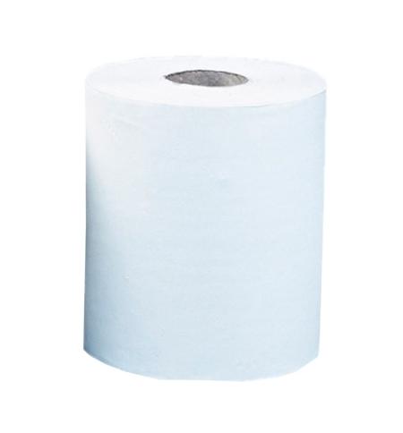 фото: Бумажные полотенца Merida Optimum Maxi в рулоне с центральной вытяжкой, белые, 150м, 2 слоя