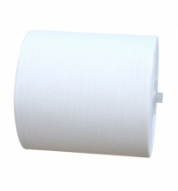 фото: Бумажные полотенца Merida Top Automatic Maxi БПАТ301, в рулоне, белые, 200м, 2 слоя, 6 рулонов