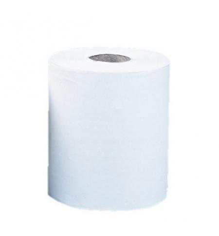 фото: Бумажные полотенца Merida Top Maxi RTB101, в рулоне, белые, 157м, 2 слоя, 6 рулонов