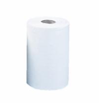 фото: Бумажные полотенца Merida Top Mini RTB201, в рулоне, белые, 70м, 2 слоя, 12 рулонов